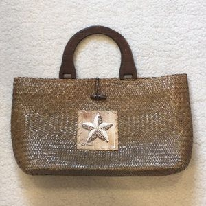 Sun N Sand Straw Purse Starfish Embellishment